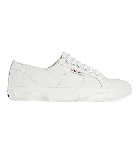 THE WHITE COMPANY Superga 皮革布鞋 (白色