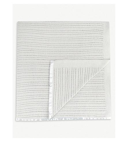THE LITTLE WHITE COMPANY 蜂窝棉小床毯 (灰色