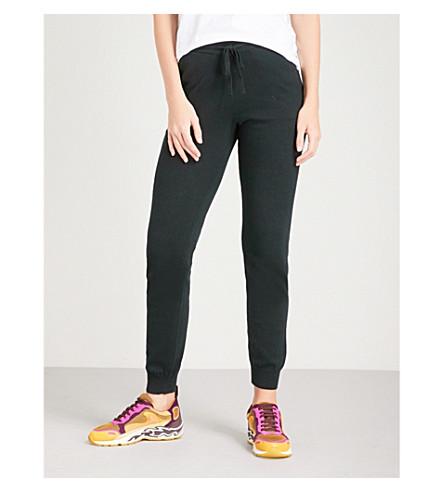 THE WHITE COMPANY Fine-knit cotton-blend jogging bottoms (Black