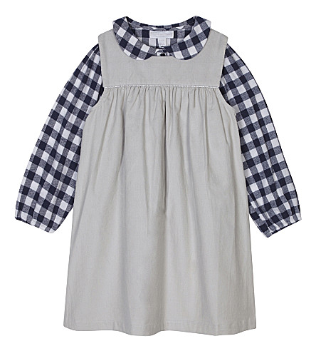 THE LITTLE WHITE COMPANY Pinafore and blouse set 1-6 years (Multi
