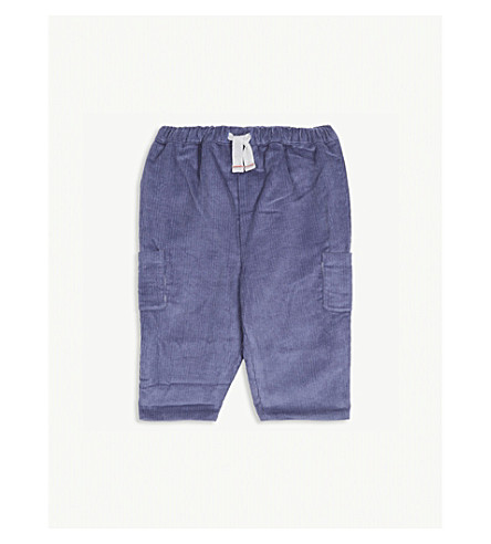 THE LITTLE WHITE COMPANY Cotton corduroy trousers 0-24 months (Blue+indigo