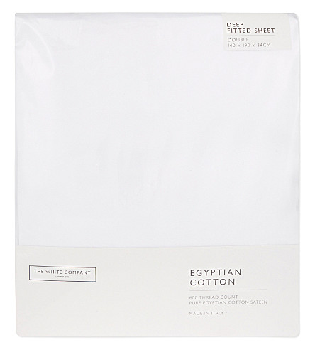 THE WHITE COMPANY Egyptian cotton double deep fitted sheet (White