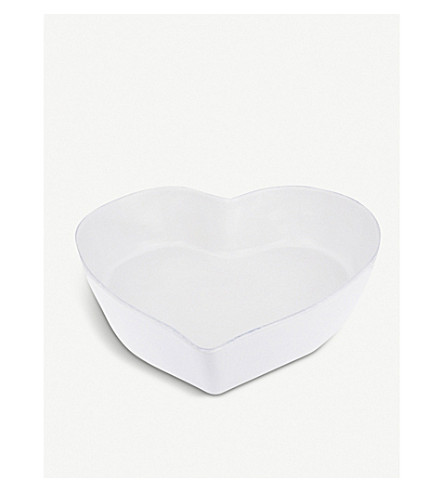 THE WHITE COMPANY Stoneware large heart oven dish