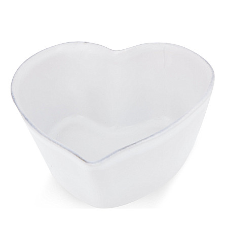 THE WHITE COMPANY Stoneware small heart oven dish