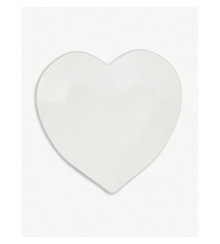 THE WHITE COMPANY Porto heart-shaped stoneware dinner plate