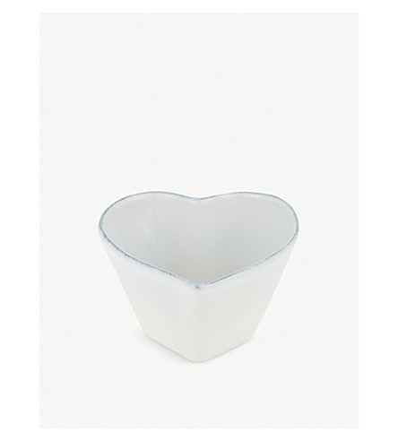 THE WHITE COMPANY Porto heart ramekin (White