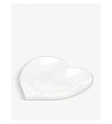 THE WHITE COMPANY Porto heart-shaped stoneware side plate