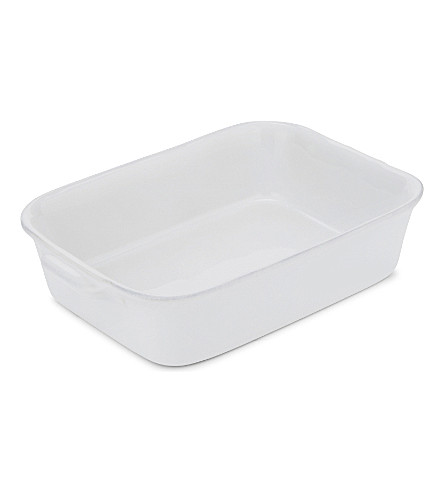 THE WHITE COMPANY Porto small stoneware roaster 25cm (White