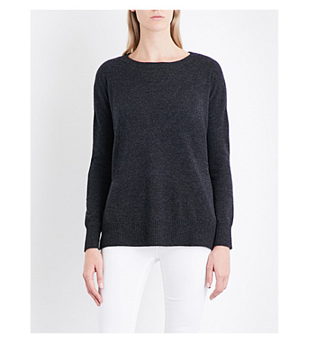 THE WHITE COMPANY Wool and cashmere-blend jumper (Charcoal+marl
