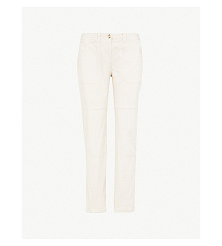 THE WHITE COMPANY Utility regular-fit stretch-cotton chinos (Clay