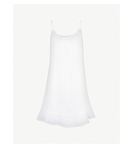 THE WHITE COMPANY Textured cotton night dress (White