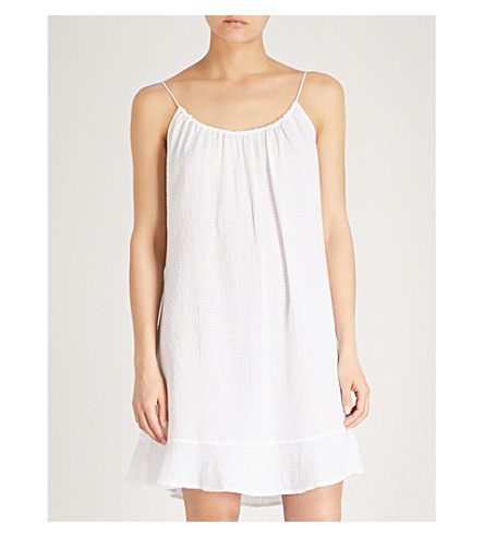 THE WHITE COMPANY Textured cotton nightdress (White