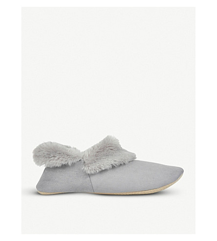 THE WHITE COMPANY Cosy Boot Slippers (Soft+grey