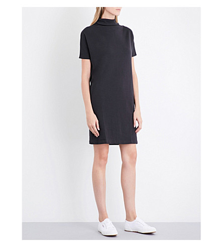 THE WHITE COMPANY High neck jersey dress (Black