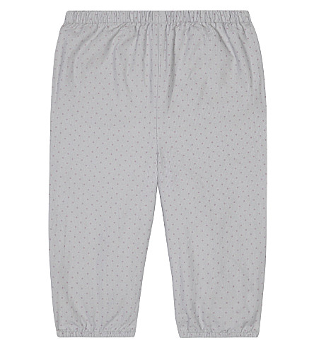 THE LITTLE WHITE COMPANY Spotted corduroy trousers 0-24 months (Grey