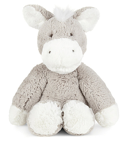 THE LITTLE WHITE COMPANY Little donkey soft toy 34cm (Mink