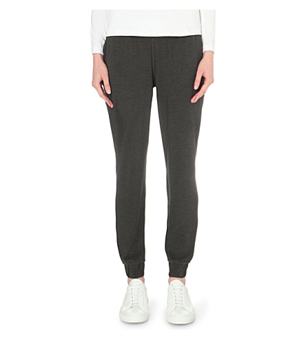 THE WHITE COMPANY Classic jersey jogging bottoms (Darkcharcmarl