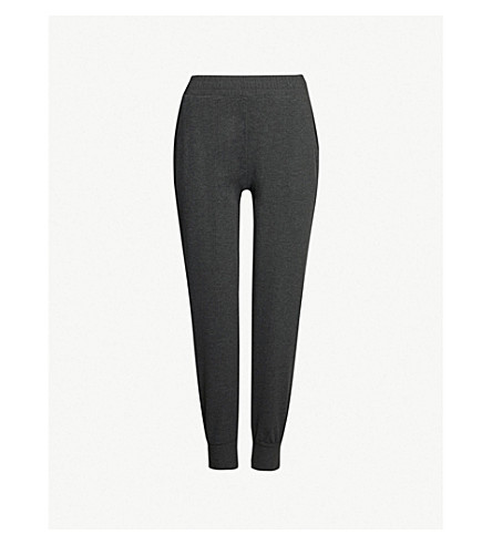 THE WHITE COMPANY High-rise jersey jogging bottoms (Darkcharcmarl