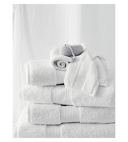 THE WHITE COMPANY Luxury Egyptian cotton hand towel (White
