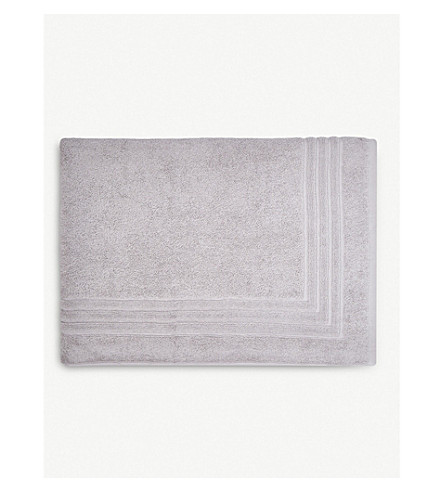 THE WHITE COMPANY Luxury egyptian cotton bath mat (Pearl+grey