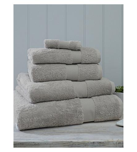 THE WHITE COMPANY 豪华 eqyptian 棉超级特大毛巾 (珍珠 + 灰色