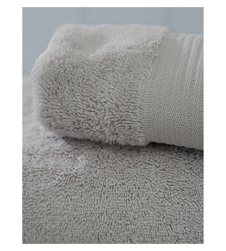 THE WHITE COMPANY Luxury egyptian cotton bath towels (Pearl+grey