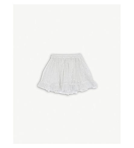 THE LITTLE WHITE COMPANY Glitter spot mesh tutu skirt 0-24 months (Silver