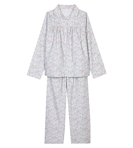 THE LITTLE WHITE COMPANY Evie flannel pyjama set 7-12 years (White