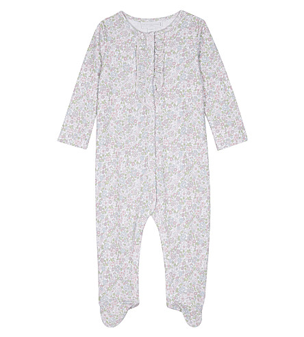 THE LITTLE WHITE COMPANY Evie floral cotton babygrow 0-18 months (Multi