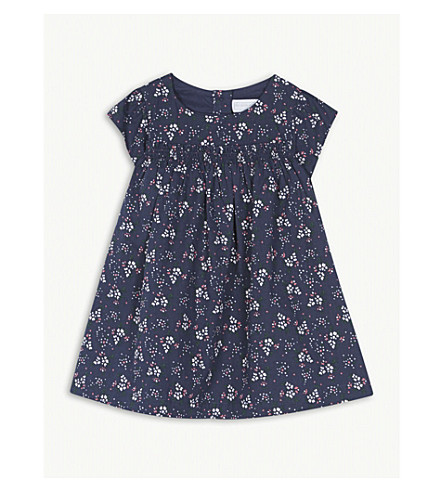 THE LITTLE WHITE COMPANY Floral cotton dress 0-24 months (Multi
