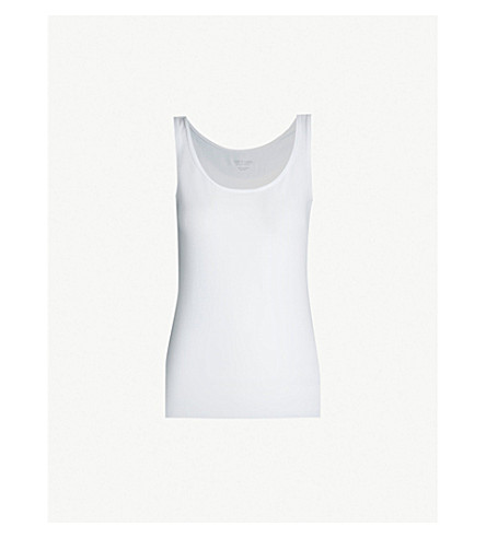 THE WHITE COMPANY Essential stretch-jersey vest top (White