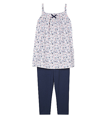 THE LITTLE WHITE COMPANY Esther cotton tunic and leggings set 1-6 years (Multi