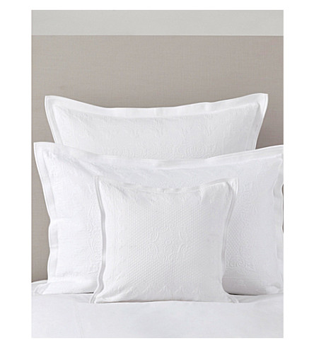 THE WHITE COMPANY Etienne large square cushion cover (White