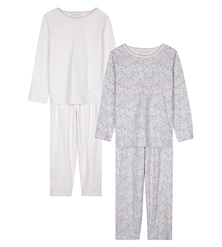 THE LITTLE WHITE COMPANY Evie floral cotton pyjamas set of two (Multi