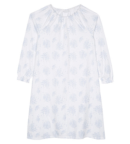 THE LITTLE WHITE COMPANY Evelyn floral-print cotton nightdress 5-12 years (White