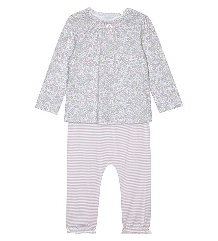 THE LITTLE WHITE COMPANY Evie floral pyjama set 0-18 months (Multi