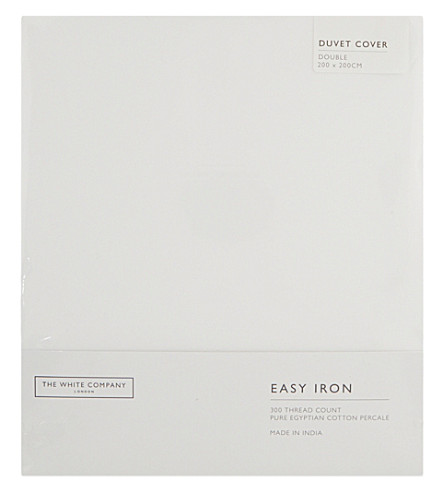 THE WHITE COMPANY Easy Iron Egyptian cotton double duvet cover (White