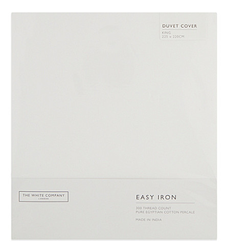 THE WHITE COMPANY Easy Iron Egyptian cotton king size duvet cover (White