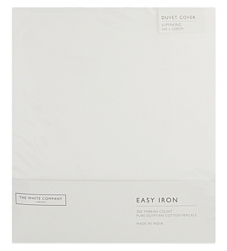 THE WHITE COMPANY Easy Iron Egyptian cotton superking duvet cover (White