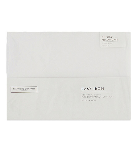 THE WHITE COMPANY Easy Iron Egyptian cotton standard Oxford pillowcase (White