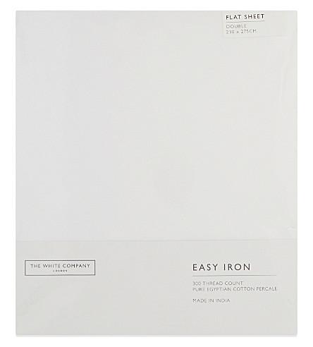 THE WHITE COMPANY Easy Iron Egyptian cotton double flat sheet (White