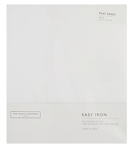 THE WHITE COMPANY Easy Iron Egyptian cotton king size flat sheet (White