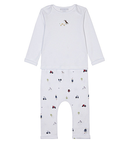 THE LITTLE WHITE COMPANY Farmyard pyjamas 0-18 months (Multi
