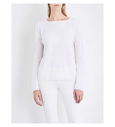 THE WHITE COMPANY Square-neck wool jumper (Porcelain