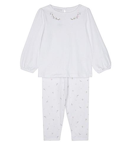 THE LITTLE WHITE COMPANY Woodland pyjamas set 0-18 months (White