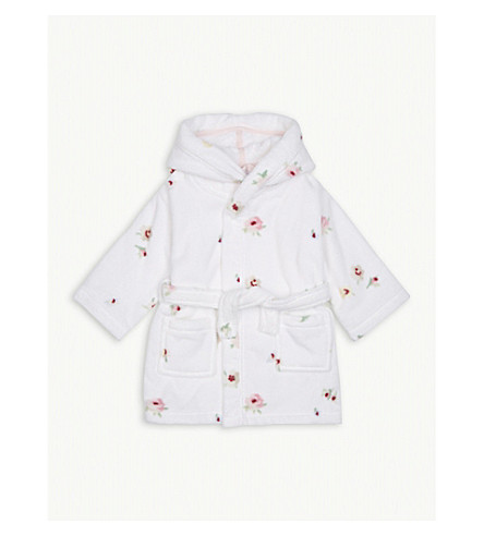 THE LITTLE WHITE COMPANY Freya floral print cotton dressing gown 1-6 years (Multi
