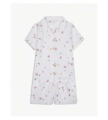 THE LITTLE WHITE COMPANY Freya floral print cotton pyjamas 7-12 years (Multi