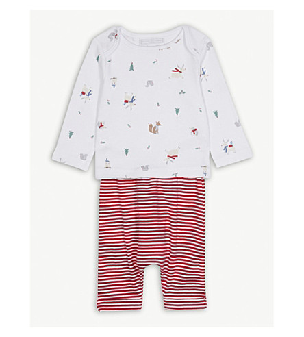 THE LITTLE WHITE COMPANY Forest Friends pyjamas 0-24 months (Multi