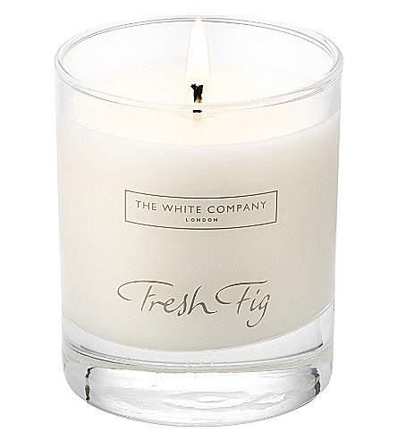 THE WHITE COMPANY Fresh fig signature candle 140g (No+colour