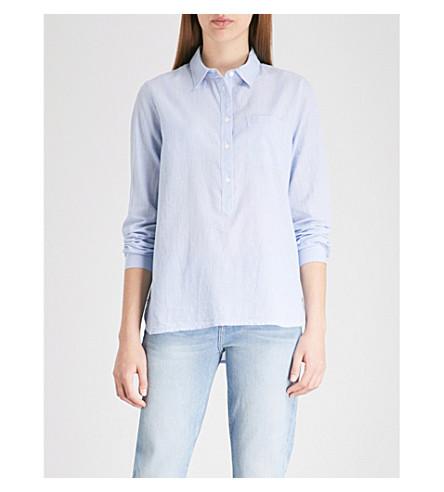 THE WHITE COMPANY Striped cotton shirt (White/blue